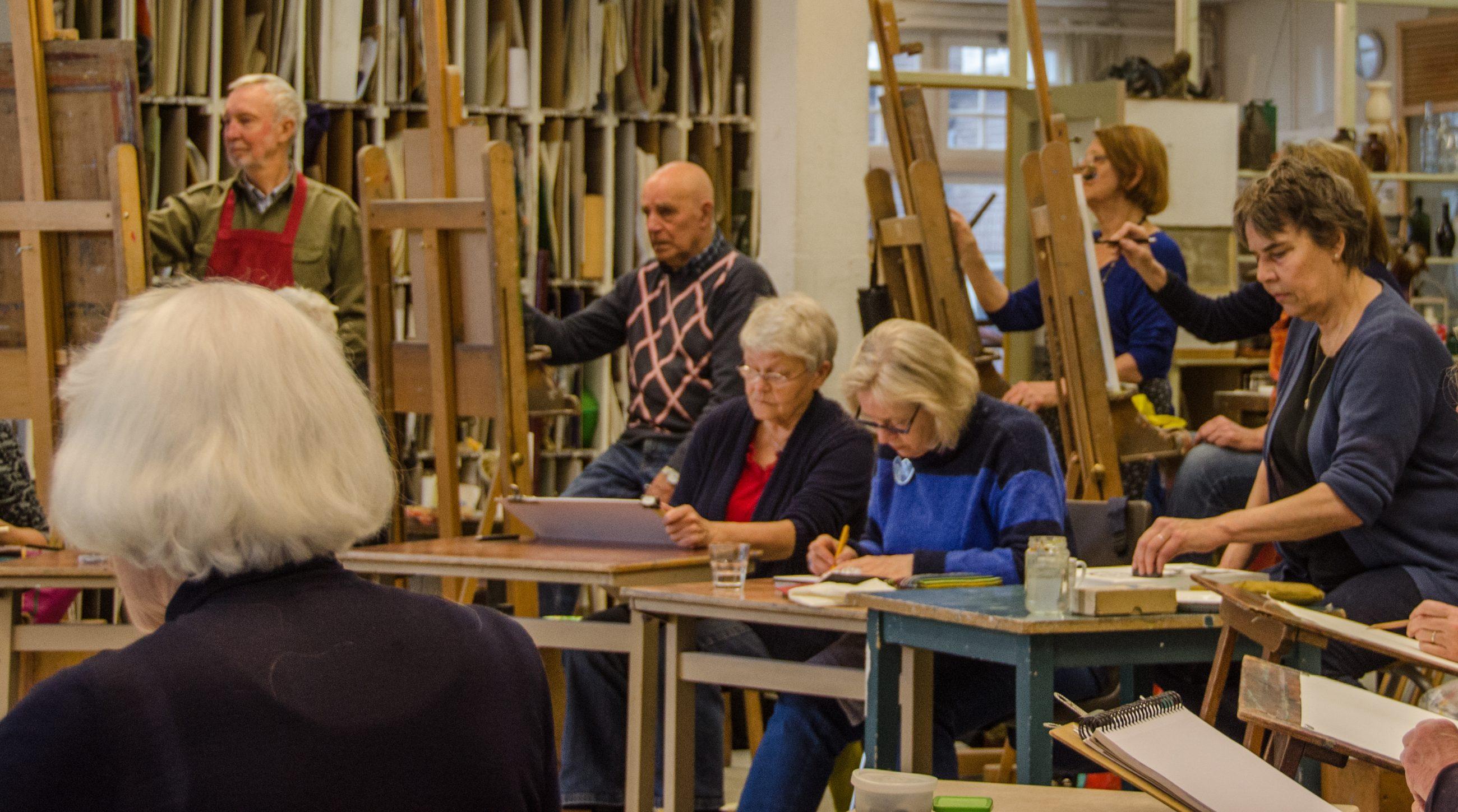 Rozenateliers Amsterdam - beeldhouwen, grafisch- en ruimtelijk werken, tekenen en schilderen met of zonder model.